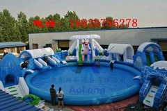 Inflatable water slides the ice world