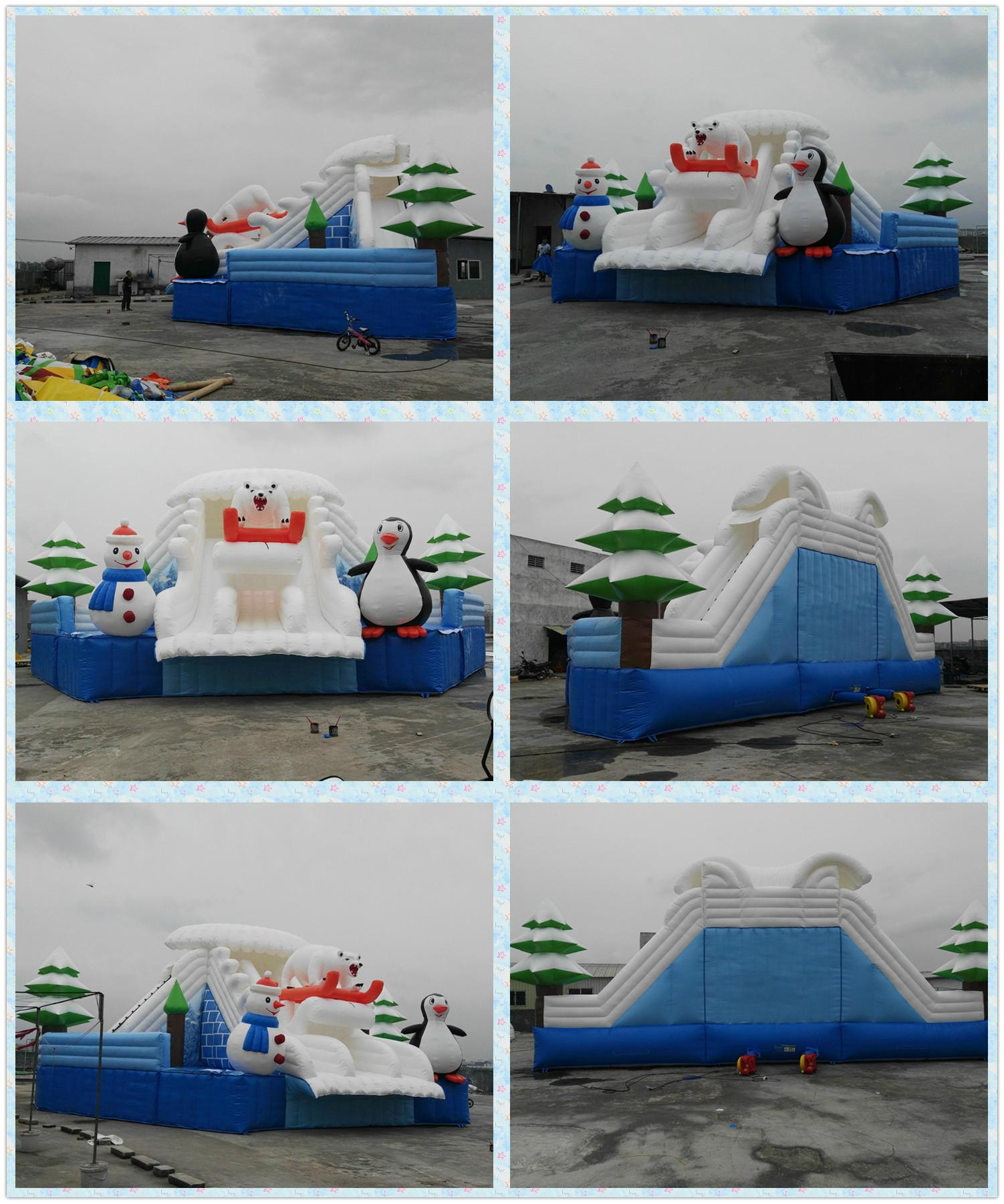 Inflatable water slides the ice world 5
