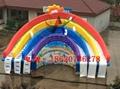 充氣彩虹水滑梯