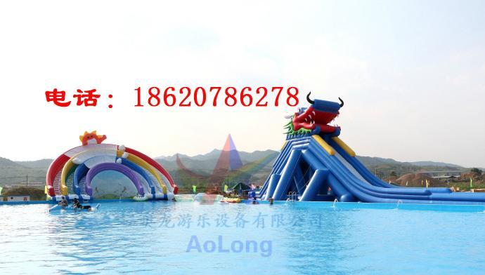 Inflatable water slides rainbow 4