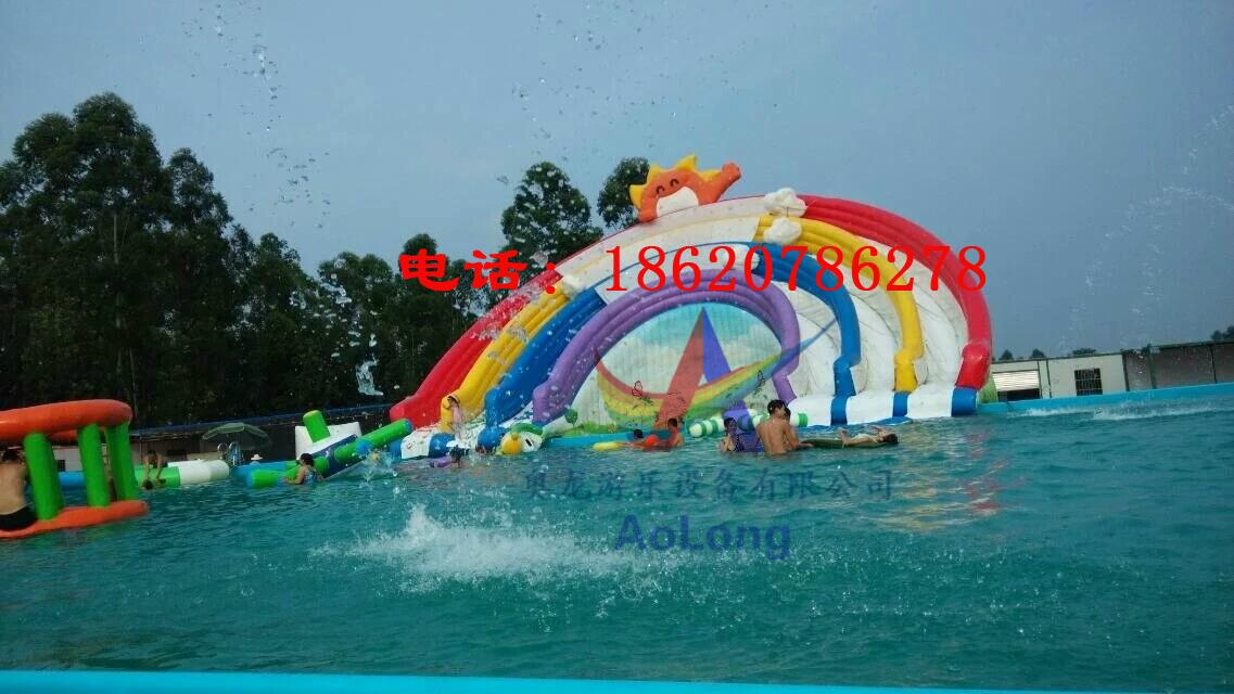 Inflatable water slides rainbow 5