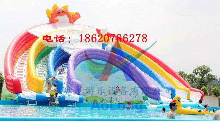 Inflatable water slides rainbow 2