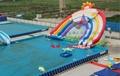 Inflatable water slides rainbow 3