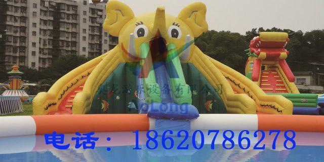 Inflatable elephant water slide 2