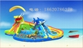 Inflatable dragon shark water slides 2