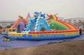 Inflatable dragon shark water slides 7