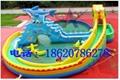 Inflatable dragon shark water slides 5