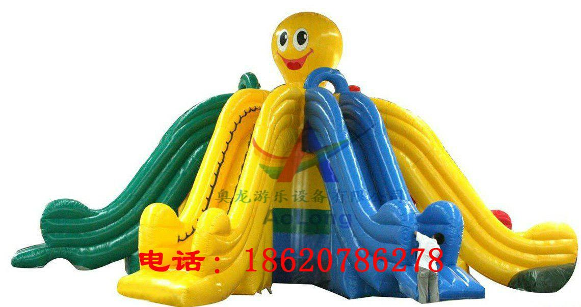 Inflatable octopus slides 2