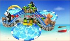 充氣叢林探險(水上樂園)