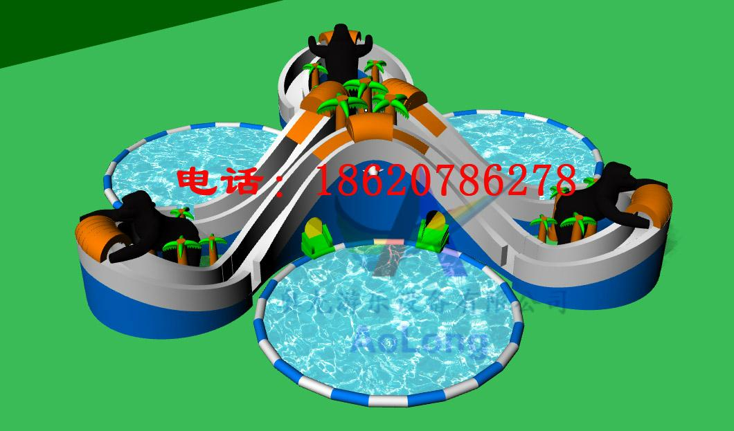 Inflatable jungle adventure (water park) 2