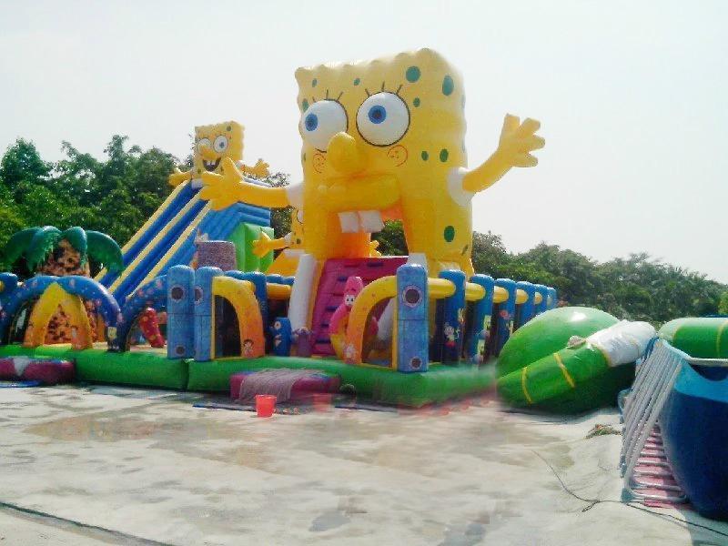 Inflatable spongebob slide (water park) 5