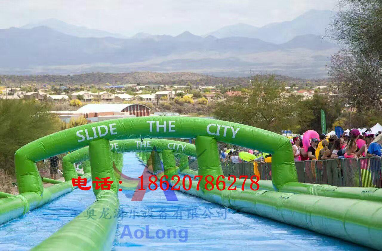 Inflatable super-long city ramp 5