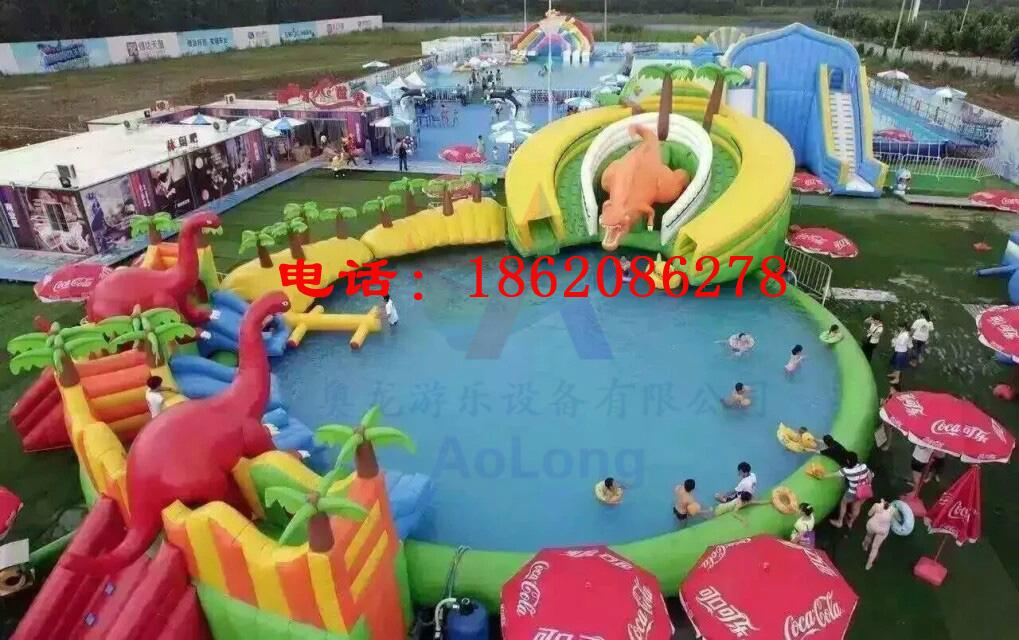 Inflatable water park dinosaur 7