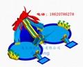 充气龙虾滑梯组合(水上乐园)