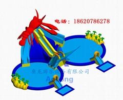充氣龍蝦滑梯組合(水上樂園)