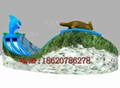 Inflatable dragon crocodile sharks slides (water park) 4