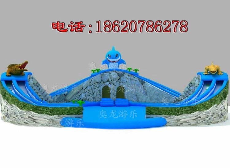 Inflatable dragon crocodile sharks slides (water park) 2