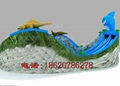 Inflatable dragon crocodile sharks slides (water park) 5