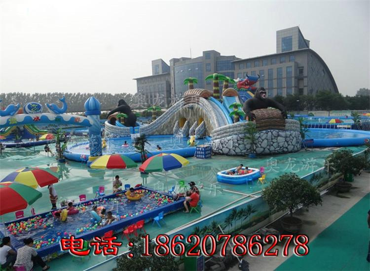 Large inflatable water park 2