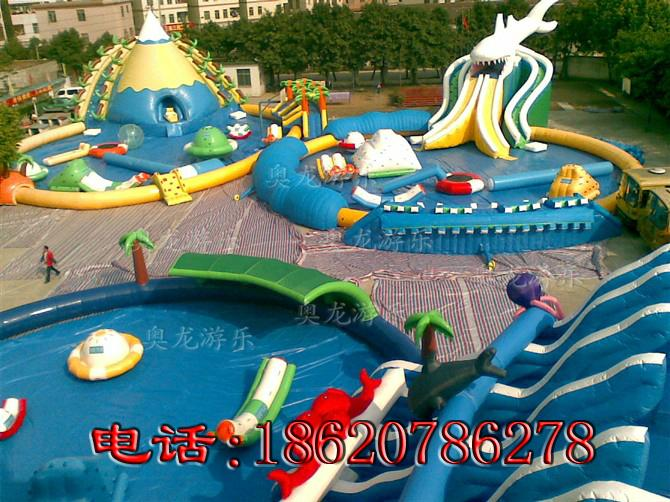 Large inflatable water park 1