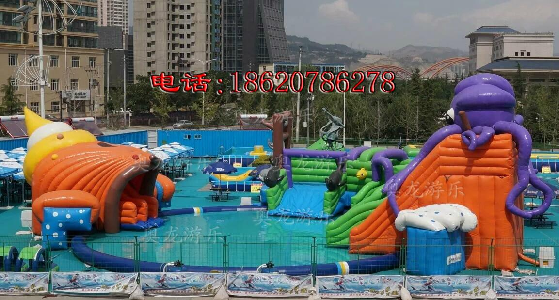 Large inflatable water park 9