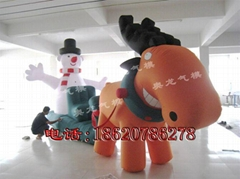 Inflatable elk cart