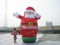 Inflatable Santa Claus, Christmas snowman