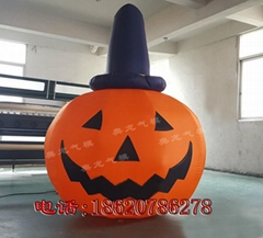 Inflatable Halloween pumpkins (smile)