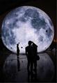 充气中秋月球