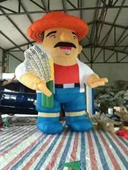 Inflatable cartoon chara