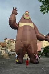 Inflatable bears cartoon