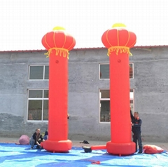 Inflatable lanterns column