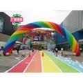 充气彩虹拱门