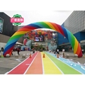 Inflatable rainbow arches