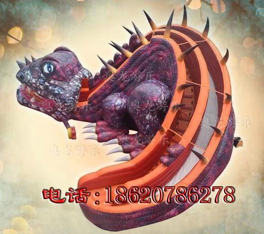 充氣恐龍滑梯 3