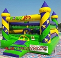 Inflatable castle trampoline