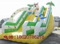 Inflatable trampoline slides 3