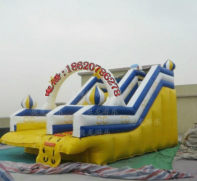 Inflatable trampoline slides 4
