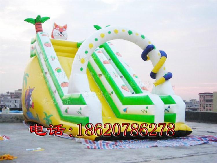 Inflatable trampoline slides 2