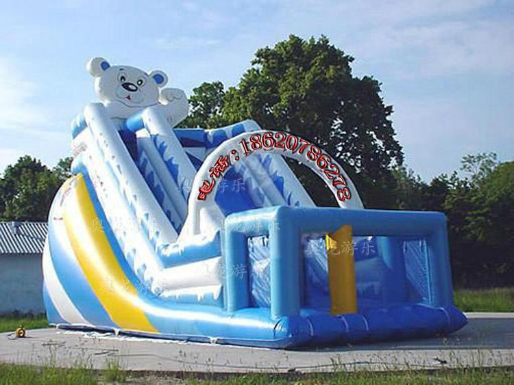 Inflatable trampoline slides 1