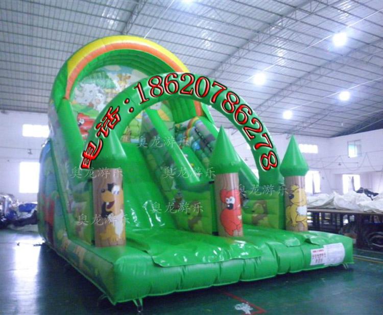 Inflatable trampoline slides 7