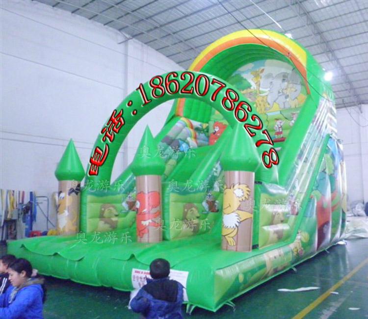 Inflatable trampoline slides 9