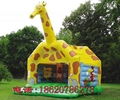 Inflatable animals trampoline