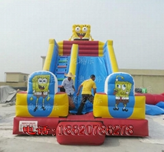 Inflatable cartoon slides