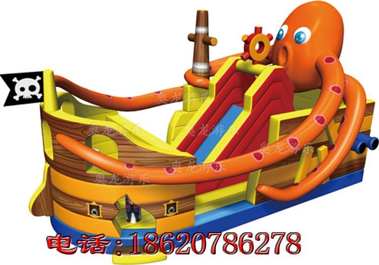 充氣海盜船滑梯 4