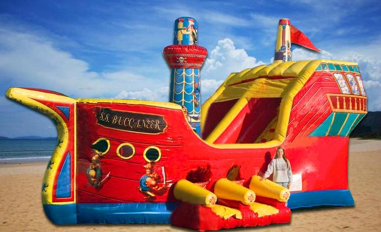 Inflatable pirate ship slide 1