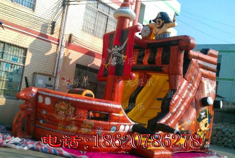 充氣海盜船滑梯 9