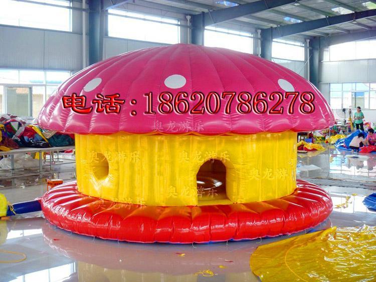 充气蘑菇房子蹦床 5