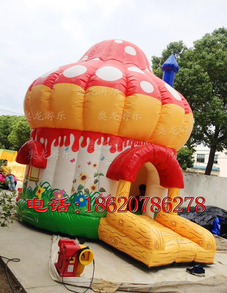 充气蘑菇房子蹦床 2