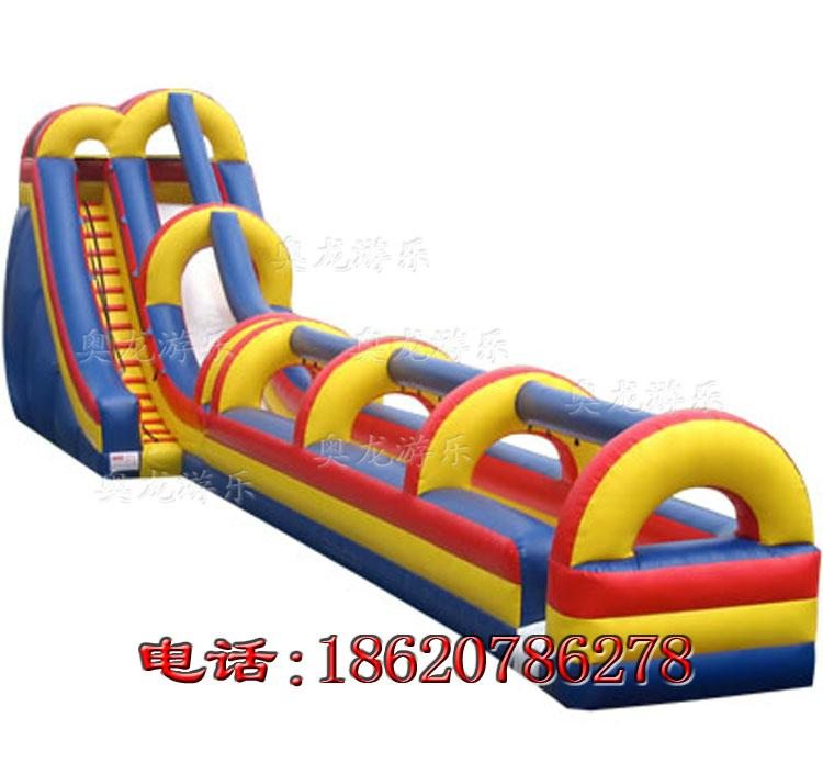 Inflatable pool combination of water slides 3
